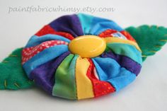 SALE  Free Shipping  Barrette Rainbow Spring by PaintFabricWhimsy