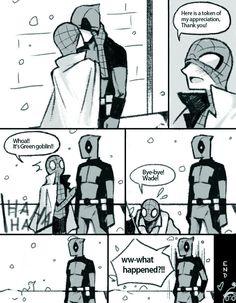 Make it happen — one day of spideypool Marvel Comic Universe, Marvel Funny, Marvel Dc Comics, Marvel Cinematic Universe, Marvel Avengers, Dc Universe, Avengers Memes, Marvel Memes, Spideypool Comic