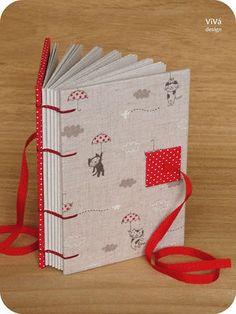 Sketchbook Gatinhos com sombrinha