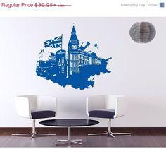 VENTE automne--Décalque de mur Londres Streetart, mural, sticker vinyle autocollant, par StyleandApply sur Etsy https://www.etsy.com/fr/listing/203911425/vente-automne-decalque-de-mur-londres