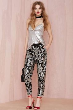 Joa Shine On Sequin Trousers - Clothes