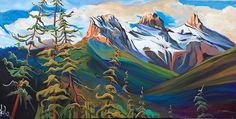 Heather Pant Artist Specializing in Impressionist Original Acrylic Mountain Landscapes. Based in Calgary, Alberta Canada. Mountain Landscape, Alberta Canada, Calgary, Painting Inspiration, Impressionist, Three Sisters, Artsy, Dance, Photography