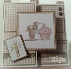 House mouse! Who doesn't love House Mouse?  I have this stamp, I will have to make this one.