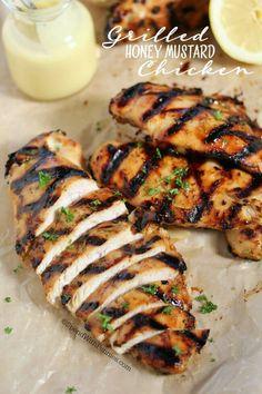 Grilled Honey Mustard Chicken. #chicken #honey #mustard #delicious #recipe #food