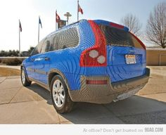 car made out of legos.