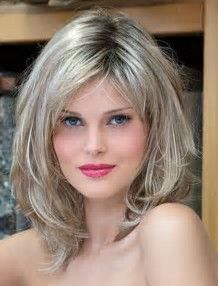 Image result for short to medium layered hairstyles Wavy