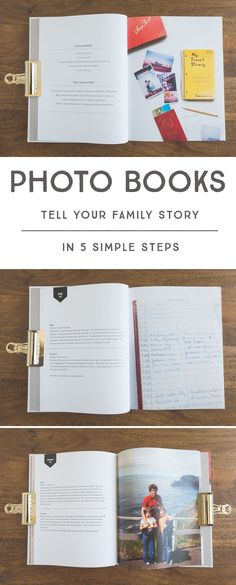 If you've ever wanted to create meaningful family photo books, but don't quite know where to start, here are some simple tips to help you tell your family stories! Uses Blurb. Album Scrapbook, Family History Book, History Books, Faire Un Album Photo, Family Yearbook, Meaningful Photos, Foto Fun, Family Memories, Ideas