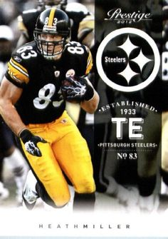 Heath Miller - Pittsburgh Steelers (Football Cards) by Panini Prestige