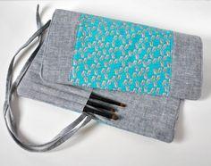 Make up brush roll crochet hook artist roll by CuriousMissClay
