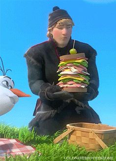 Kristoff: The only man in the history of ever to question why someone made him a sandwich