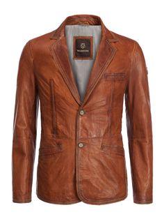 Milestone Softes Vintage Leather Jacket cognac - Men's fashion in plus sizes