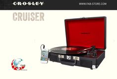 CROSLEY Cruiser with built-in stereo speakers. Love the rich, warm sound of vinyl, Constructed of wood and bound in a leatherette material. Put down the iPod and mobilize your with the Cruiser three-speed Built In Speakers, Stereo Speakers, Usb Turntable, Portable Record Player, Record Players, Toned Arms, Tech Accessories, Bluetooth, Smartphone