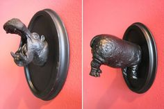 DIY hippo butt wall hook for towels