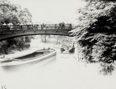 "Caption: ""Tug and barges at the junction with Cumberland Basin on the Regent's Canal"""