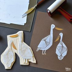 Bird Block Print Stamps by Andrea Lauren