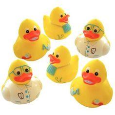 Assorted dental-themed rubber ducks! So random...so cute...so randomly cute!