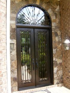 Full Gl Iron Door W Transom Clark Hall Doors Charlotte Nc