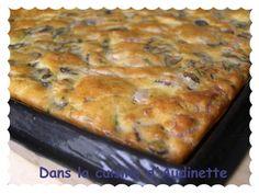 Carrés apéro aux champignons de Paris et lardons - Dans la cuisine d'Audinette