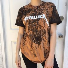 Vintage distressed Metallica tee Vintage distressed Metallica tee made by me - Yeezy Shirt - Ideas of Yeezy Shirt - Vintage distressed Metallica tee Vintage distressed Metallica tee made by me Yeezy Tops Tees Short Sleeve Bleach Shirt Diy, Diy Shirt, Sweater Shirt, Fashion Outfits, Fashion Trends, Emo Fashion, Alternative Outfits, Pull, Diy Clothes