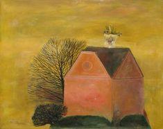 Nest With Flowers - Stefan Caltia Magic Realism, Famous Words, Love Art, Landscape, Night, Illustration, Flowers, Beautiful, Art Database