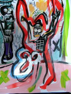 Jean-Michel Basquiat Acryl auf Foto Ausstellungskataloghttp://www.ebay.de/itm/141241201700?ssPageName=STRK:MESELX:IT&_trksid=p3984.m1586.l2649