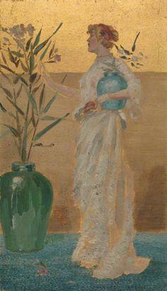 Standing Figure with Vase Full of Flowers, Beatrix Whistler c. 1877