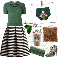 FOREST by menina-ana on Polyvore featuring polyvore, fashion, style, P.A.R.O.S.H., Bellagio, Rumour London, Valentino and Nancy Gonzalez