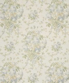 Bennison-Roses - Green Grey on Oyster