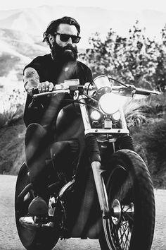 Beard and motorcycle