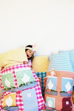 Dollhouse pillows.  Could you make one for monsters? How about a pillow for cars?