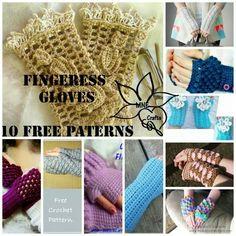 Fingerless gloves-10 free patterns
