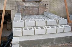 concrete block stairs build risers - Google Search