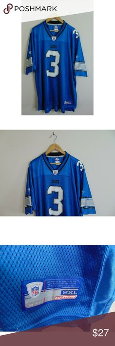 7395fef23cd Reebok 2XL Detroit Lion Joey Harrington NFL Blue Reebok Men 2XL Detroit  Lion Joey Harrington NFL. Joey HarringtonDetroit LionsReebokFootball JerseysVintage  ...