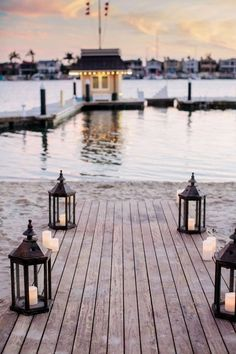 I love these lanterns on the dock...