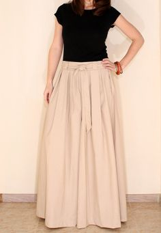 Wide leg Linen pants Palazzo Pants Skirt for Women by KSclothing