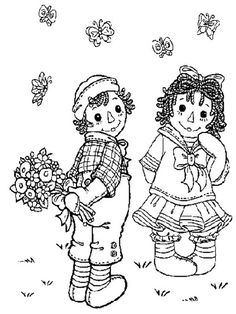 Raggedy Ann Coloring Pages | ... for Raggedy Ann from Andy in Raggedy Ann and Andy Coloring Page
