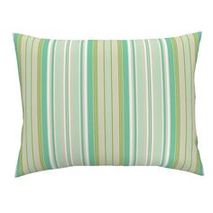 Campine Pillow Sham featuring Beach Cabana Stripe 3 by fleamarkettrixie Beach Cabana, Striped Bedding, Bed Design, Pillow Shams, Spoonflower, Comforters, Duvet Covers, Backdrops, Tapestry