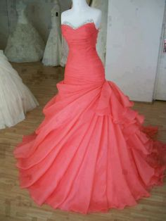 I'd have this in royal blue or purple. Absolutely stunning!