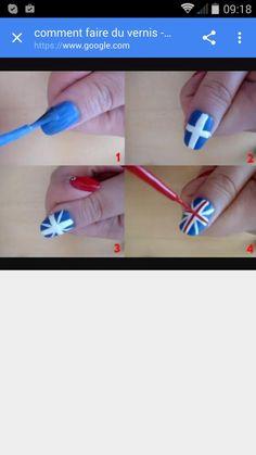 Ici on voit qu'on fait le drapeau de Londres (j'adore ce pays)il y a 4 etapes