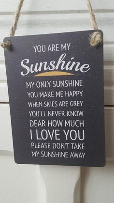 YOU ARE MY SUNSHINE BLACK MINI METAL CHIC N SHABBY VINTAGE SIGN
