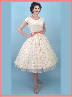 50 del partido de la falda Mad Men Estilo del lunar lleno del vestido de 1950 de la vendimia Vestidos-Vintage Blue Velvet - Blue Velvet Vintage