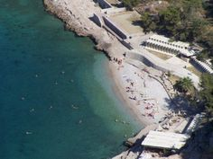Nafplion beach from above