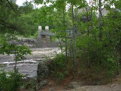 Swinging Bridge in Jay Cooke State Park, MN - Washed out June 20, 2012, during massive flooding.