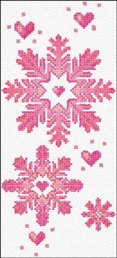 Cross Stitch Charts snow flakes free cross stitch pattern by ann logan - Free cross-stitch design 'Snowflakes', 65 x 144 stitches 15 colors Cross Stitch Needles, Cross Stitch Charts, Cross Stitch Designs, Cross Stitch Patterns, Cross Stitching, Cross Stitch Embroidery, Embroidery Patterns, Hand Embroidery, Christmas Cross