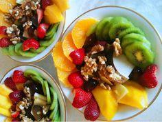 fruit salad w/ walnuts #fruitsalad #walnuts