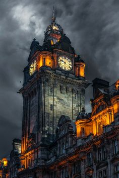 Clock tower - Edinburgh - Scotland Foto by Marco Bocelli