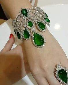 The Jewel Collective — Green with envy! An incredibly opulent Emerald set...