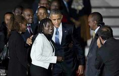 President Obama and his half sister Auma in Kenya on yesterday.