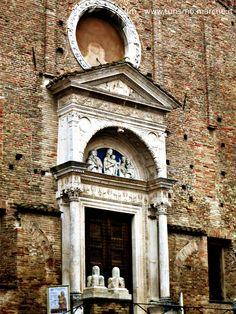 The Church of San Domenico Urbino, portal lunette by Luca della Robbia