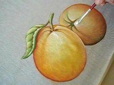Easy Painting Projects, Painting Videos, Easy Paintings, Oil Painting Flowers, Stencils, Navidad Diy, Fruit, Creative, Ceramic Painting